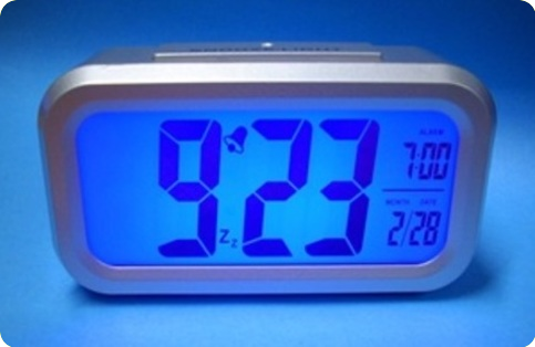 Desk clock with alarm and